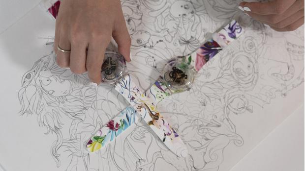 Фото №4 - Новая российская коллаборация Swatch x YOU: часы с креативом художницы Эллен Шейдлин