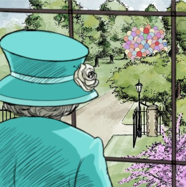 Фото №2 - 95 воздушных шаров и бочонок меда: королева Елизавета получила трогательное послание от Винни-Пуха