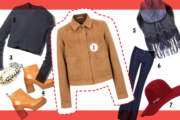 С чем носить замшевую куртку