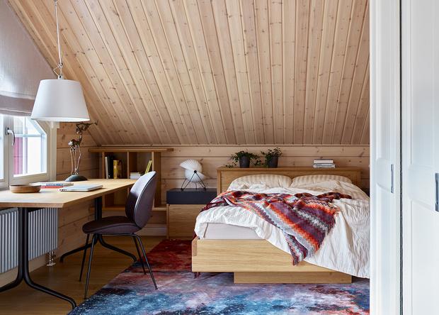 Фото №14 - Современный интерьер в деревянном доме в Подмосковье