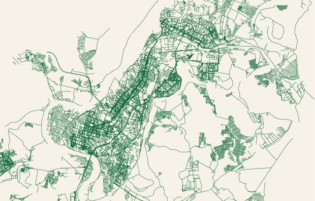 Фото №4 - Сайт дня: преврати свой город в карту, на которой будут только дороги