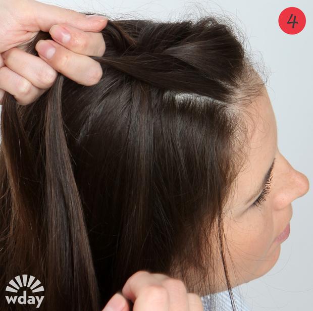 французская коса плетение
