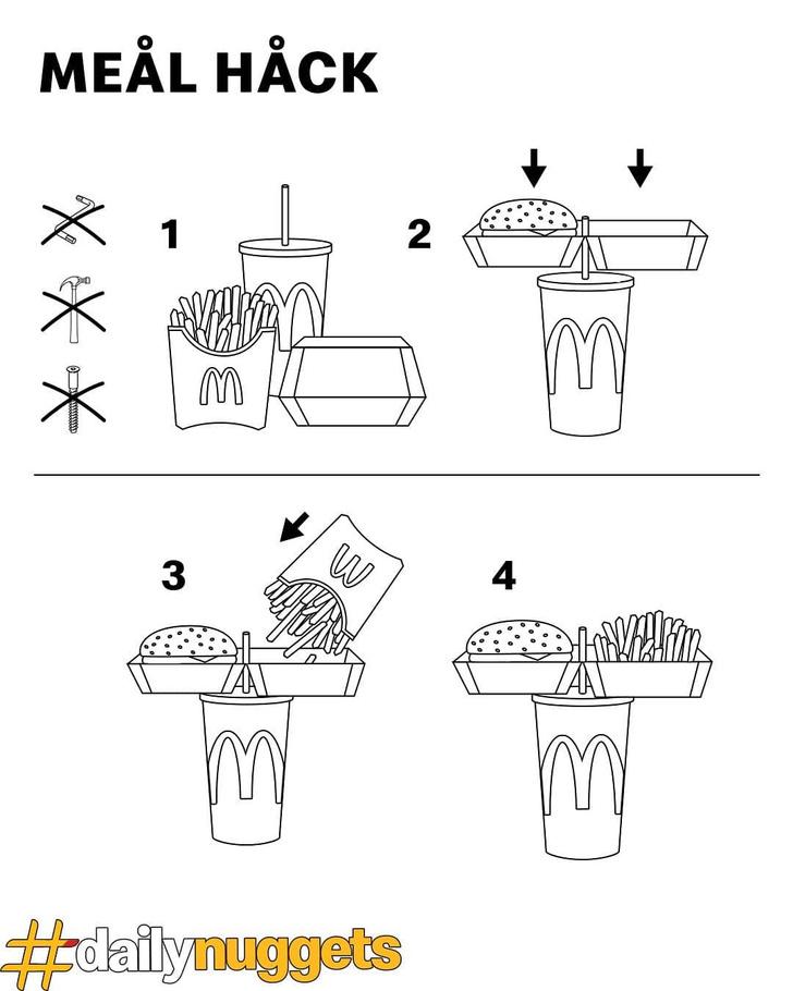 Фото №2 - «Макдоналдс» показал лайфхак, как можно есть их еду одной рукой на бегу
