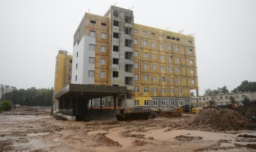 Фото №1 - Строители перинатального центра в Гатчине отстают от графика на 2 месяца