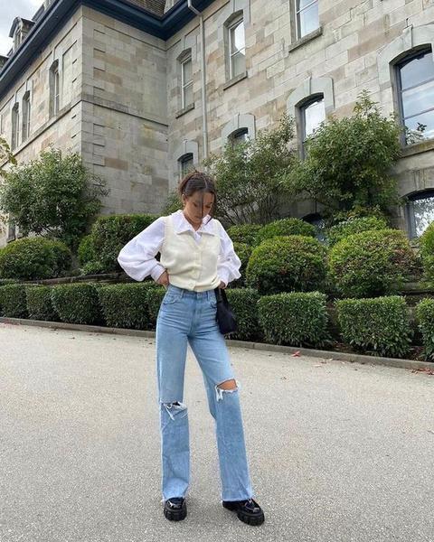 Фото №7 - С чем носить широкие джинсы: 7 стильных образов