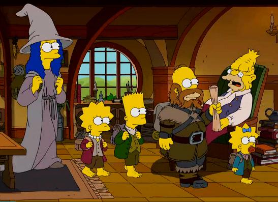Фото №1 - 15 самых крутых пародий в «Симпсонах»