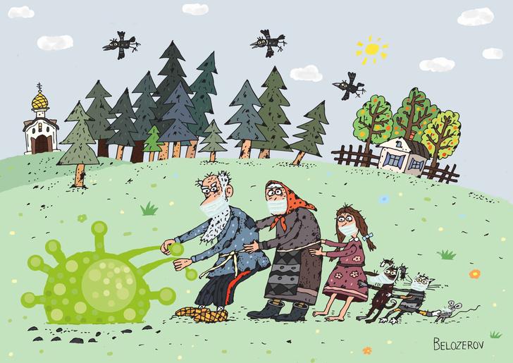 Фото №7 - 50 карикатур про коронавирус международного конкурса в Китае