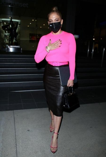 Дженнифер Лопес в Лос-Анджелесе