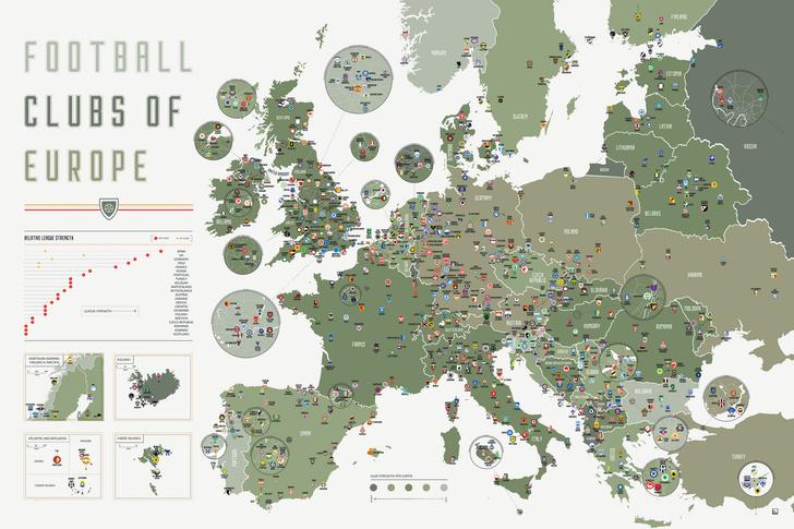 Фото №2 - Карта: футбольные клубы Европы и России по их родным городам