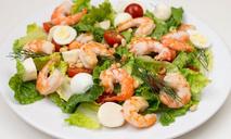 Салат с креветками без майонеза