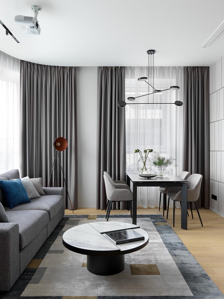 Фото №2 - Монохромная квартира 57 м² для молодой пары в Москве