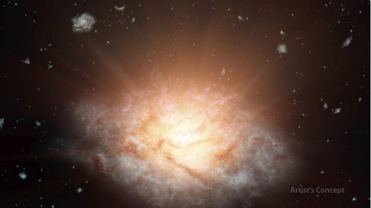 Фото №1 - Обнаружена самая яркая галактика во Вселенной
