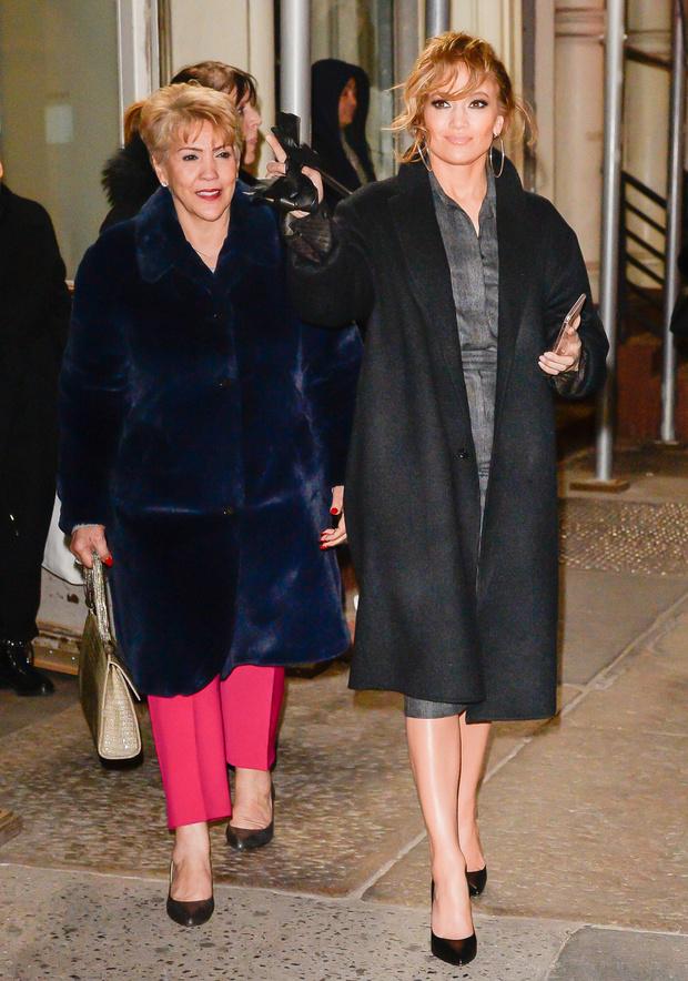Джей Ло с мамой