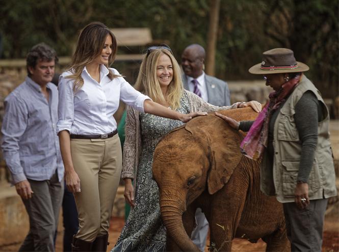 Фото №2 - Почему «африканский» гардероб Мелании Трамп оказался таким спорным