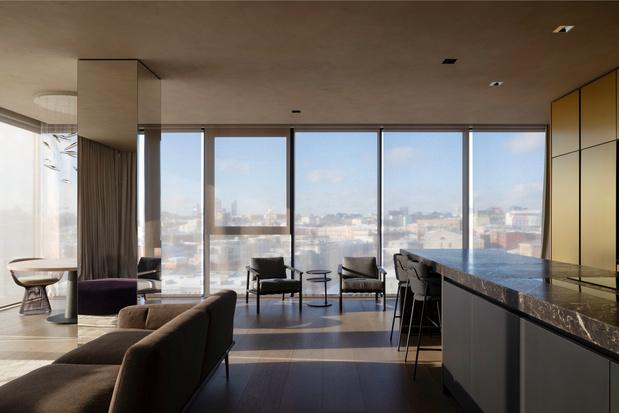 Фото №3 - Golden time: квартира с панорамными окнами в Москве