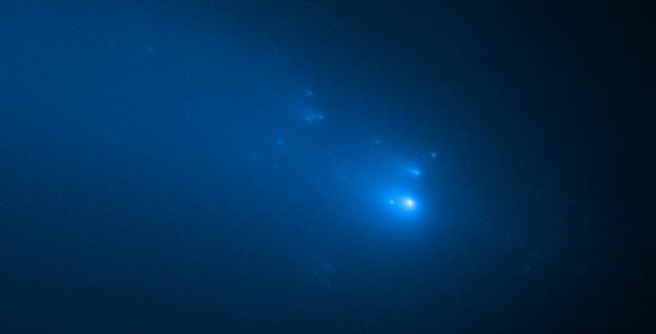 Фото №1 - «Хаббл» увидел распад кометы ATLAS