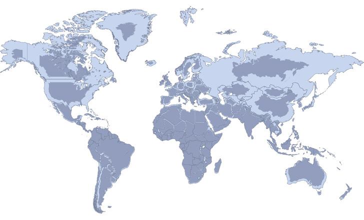 Фото №1 - Карта: реальные размеры стран в сравнении с проекцией Меркатора