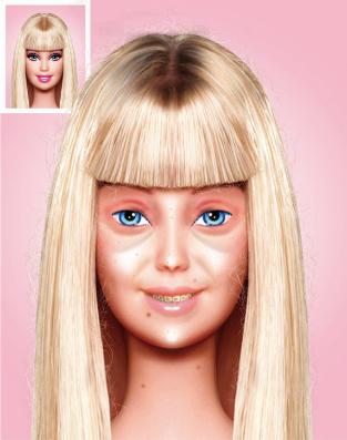 Фото №2 - Как выглядит Барби без макияжа?
