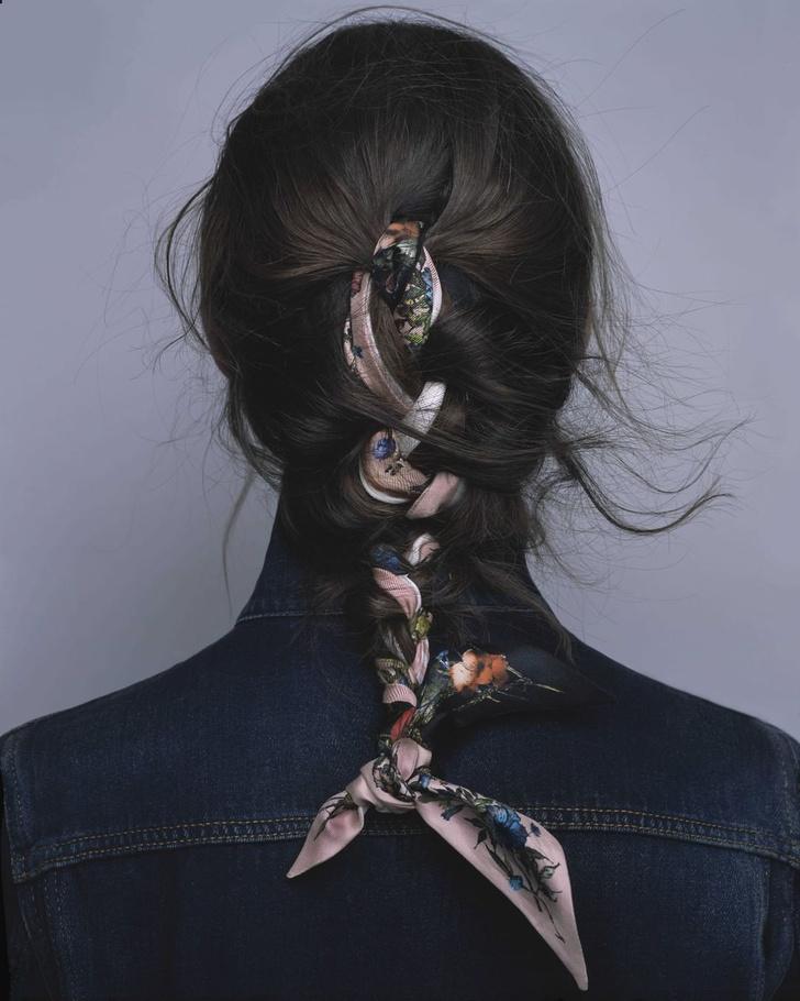 Фото №1 - 3 стильные укладки с платками Dior