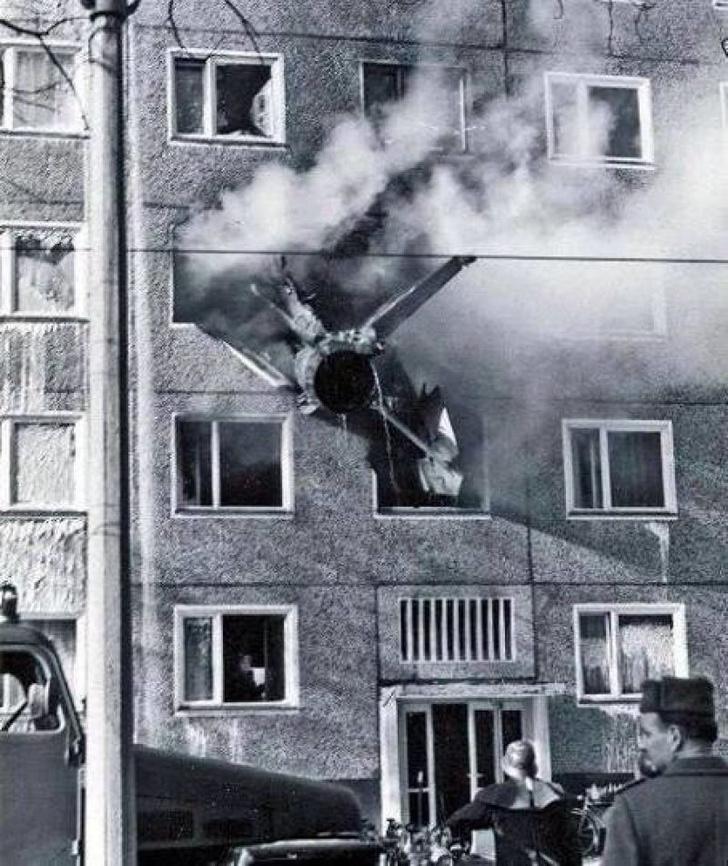 Фото №1 - 45 лет с авиакатастрофы МиГ-21 в немецком городе Котбусе