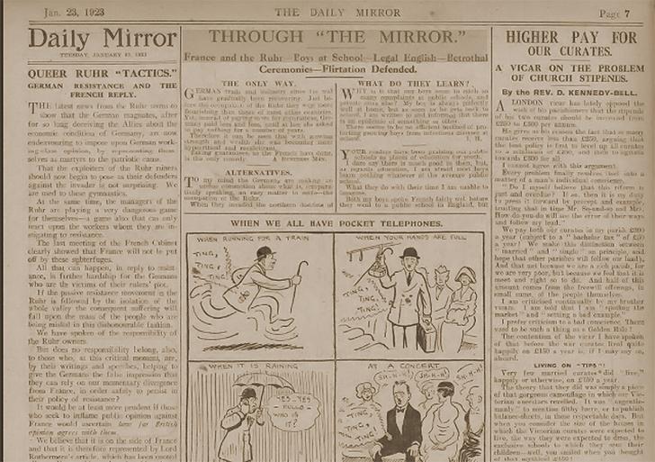 Фото №1 - Пророческая карикатура про мобильники из 1923 года