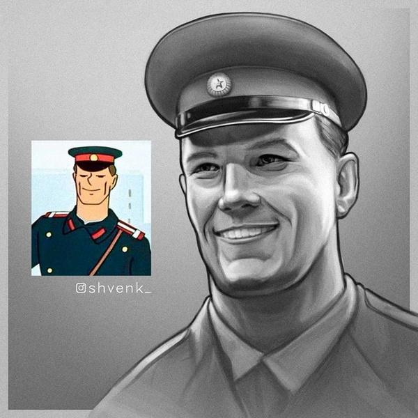 Фото №5 - Как выглядели бы персонажи советских мультиков, если бы были живыми людьми