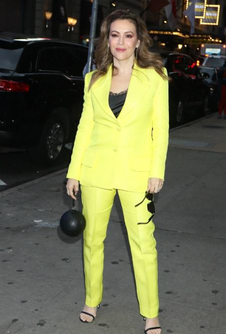 Алисса Милано в Нью-Йорке