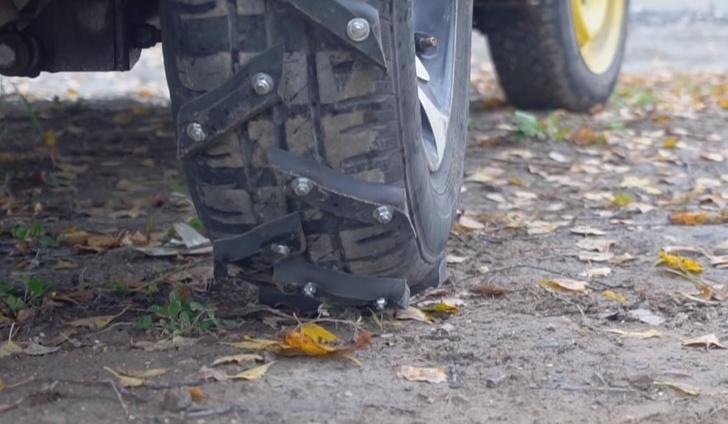 Фото №1 - Колеса-вездеходы для автомобиля своими руками (видео с инструкцией)