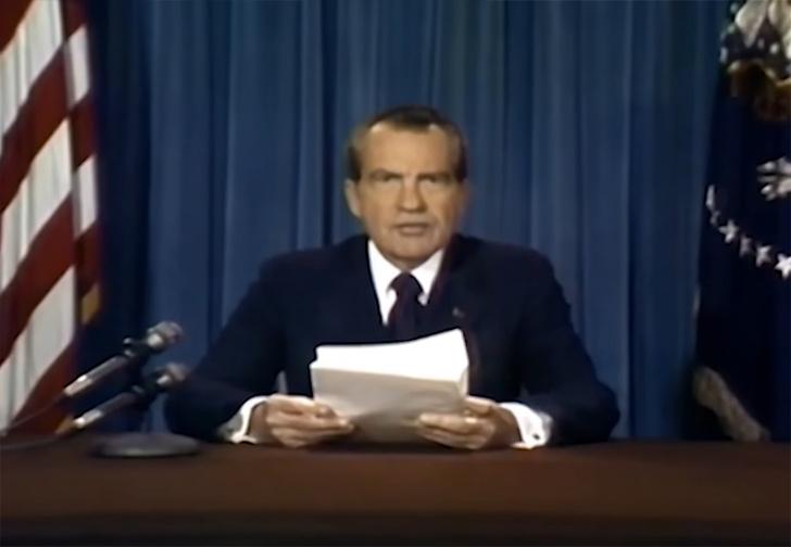 Фото №1 - Как могла выглядеть речь Ричарда Никсона, если бы астронавты «Лунной миссии» погибли (видео)
