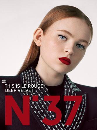 Фото №3 - Сэди Синк— лицо новой рекламной кампании Givenchy Le Rouge Deep Velvet