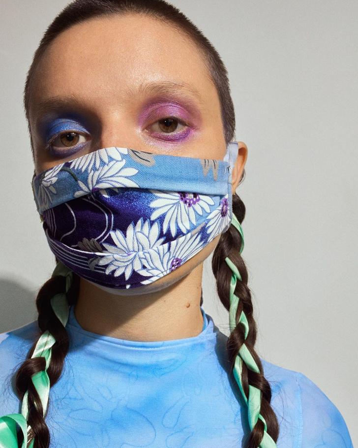 Фото №1 - Посткарантинный тренд: макияж под цвет маски