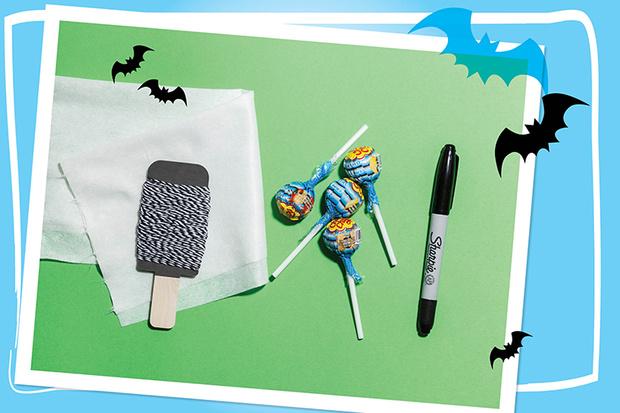 конфета-призрак на хэллоуин