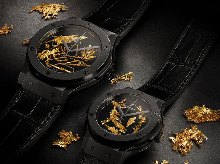 Фото №1 - Hublot представили новинку, украшенную кристаллами золота