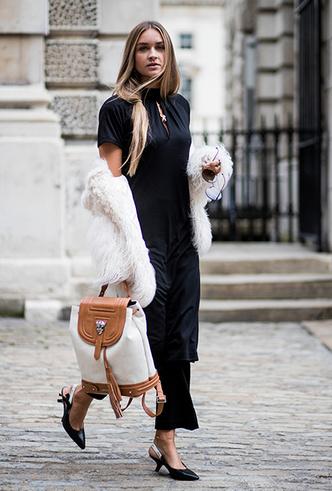Фото №23 - Платье зимой: 4 небанальных (и теплых) способа его носить