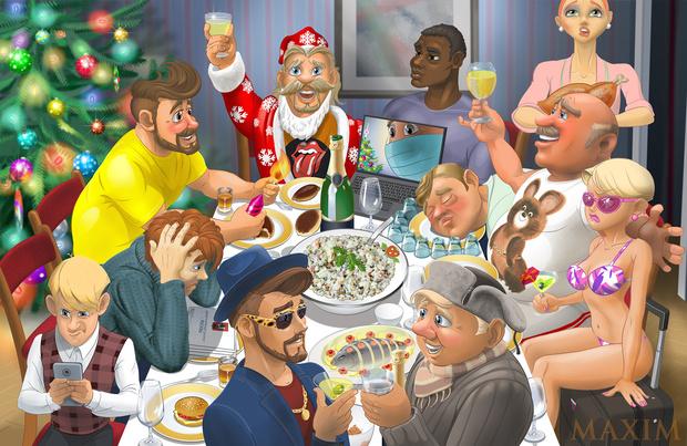 Фото №1 - Кто ты за новогодним столом— 2021? Узнай себя на нашей картинке