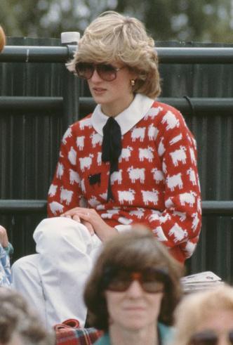 Фото №8 - От принта с «паршивой овцой» до классики: любимые свитеры принцессы Дианы