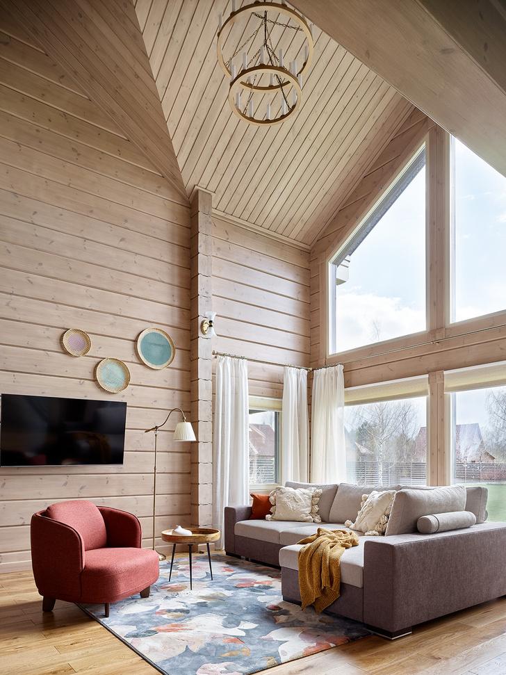 Фото №1 - Деревянный дом в стиле кантри