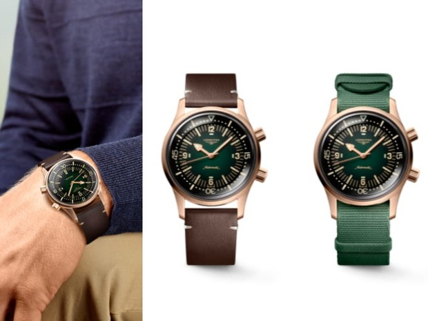 Фото №1 - Часы The Longines Legend Diver теперь доступны в бронзовом цвете