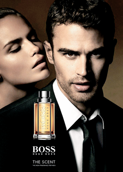 Тео Джеймс и Наташа Поли в рекламе Boss The Scent