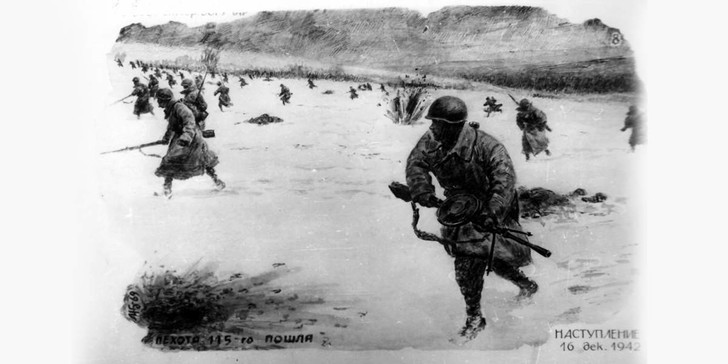 Фото №1 - Рисунки красноармейца Жданова: Сталинградская битва