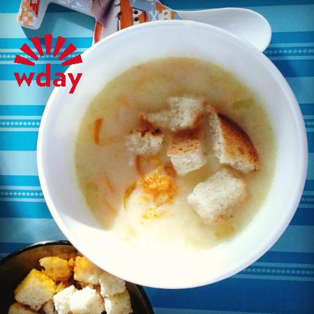 Суп молочный с картофелем