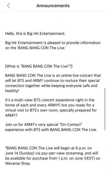 Фото №1 - BTS анонсировали онлайн-концерт Bang Bang Con The Live