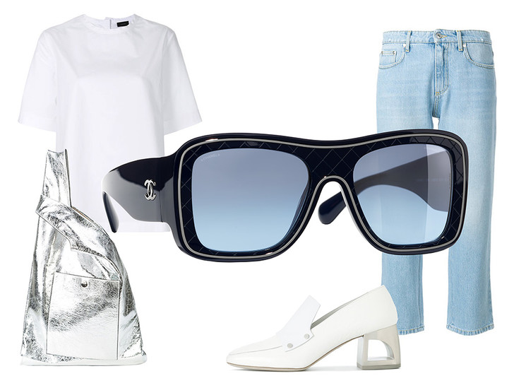 Фото №44 - Победа по очкам: 5 модных образов с главным летним аксессуаром