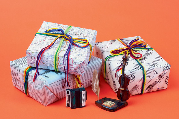 нотная бумага упаковка для подарка