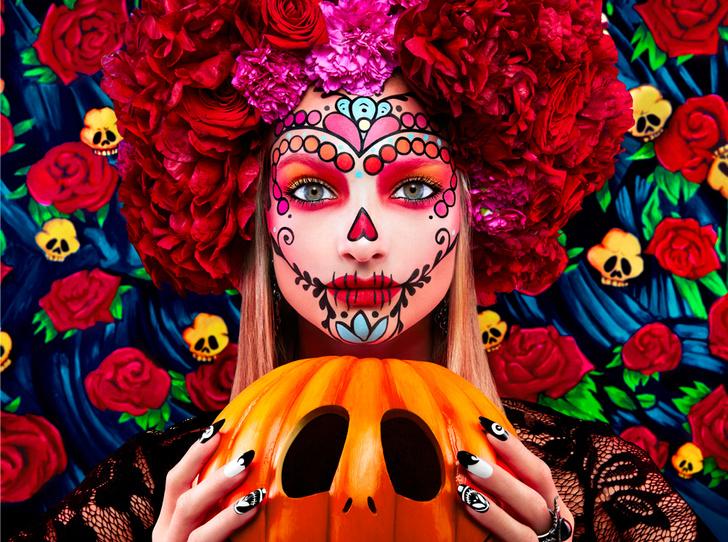 Фото №1 - 25 идей, как раскраситься на Хэллоуин