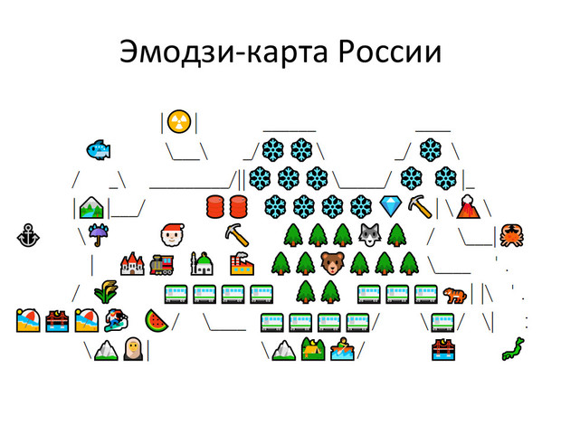 Фото №2 - На Reddit появилась эмодзи-карта России