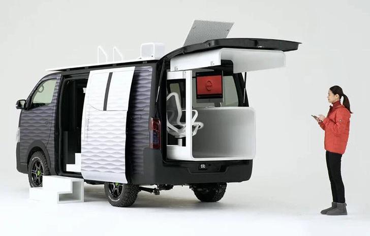 Фото №2 - Кабинет на колесах: концепт передвижного офиса Nissan