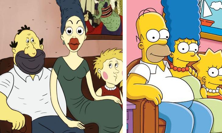 Фото №1 - Художник изобразил «Симпсонов» в стиле советских мультфильмов. Часть 2