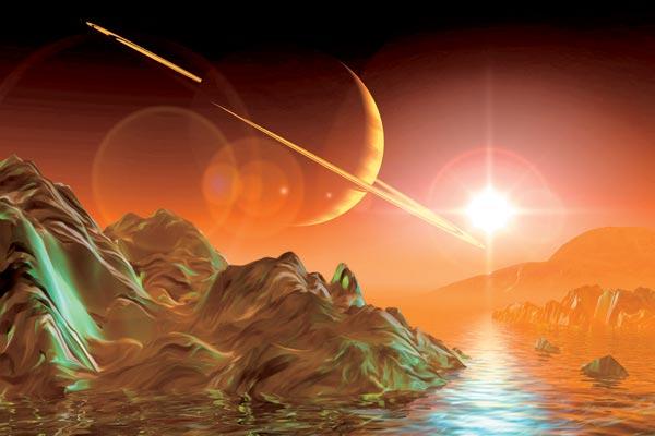Фото №1 - Черные моря Титана