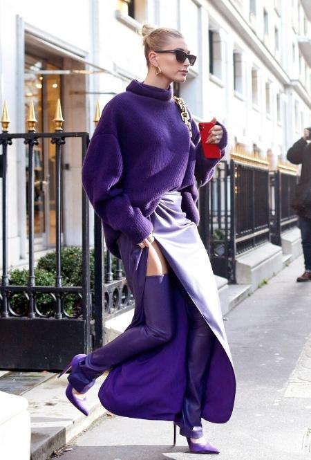 Хейли Бибер в Париже